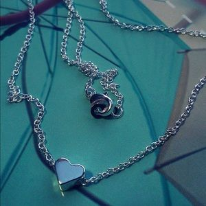 Jewelry - Silver Plated Heart Pendant Necklace